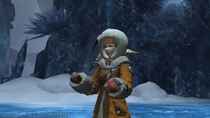 Patricia wrapped up warmly in Snowcloak