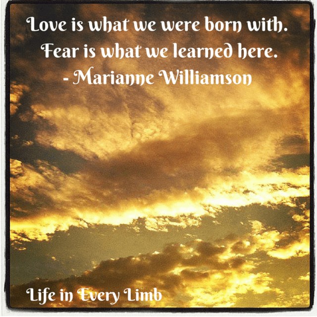 Love is what we were born with. Fear is what we learned here.- Marianne Williamson.png