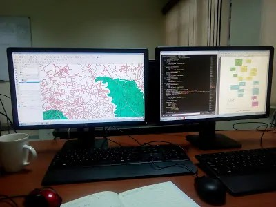 Begin  developing in GIS