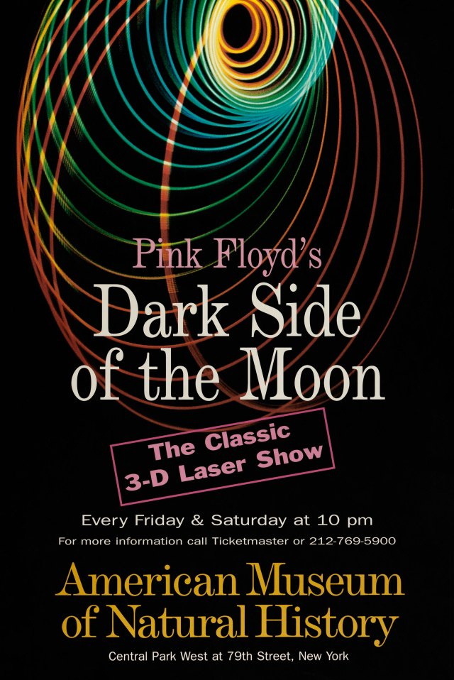 """American Museum of Natural History/Hayden Planetarium's Pink Floyd """"Dark Side of the Moon"""" Classic 3D Laser Show Poster"""