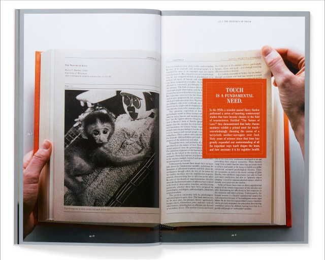 A companion Augmented Reality smartphone app downloaded by the reader provides additional information for pages throughout the book that are framed in silver.
