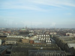 View of Dublin from the Gravity Bar.