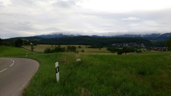 Looking towards the mountains beyond Kandern, from Tannenkirch