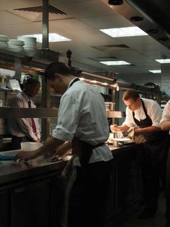 Kitchen at Angler Restaurant, South Place Hotel