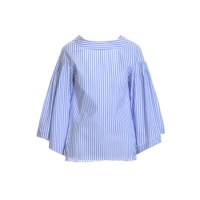 Fashion pick: Bell sleeved top in blue and white stripped cotton from Teija Eilola