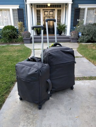One year, two suitcases