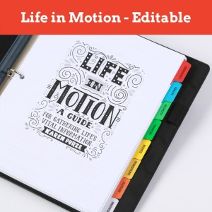 Life in Motion Guide - editable