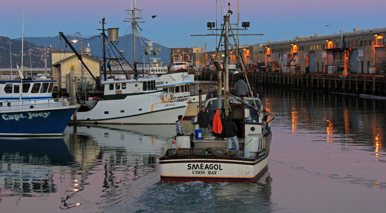 Crab boat out of fishermans wharf
