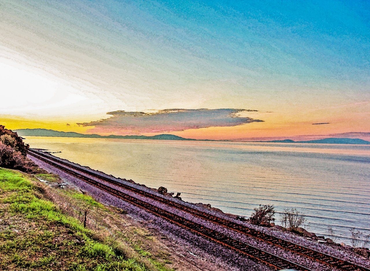 San Pablo sunset tracks