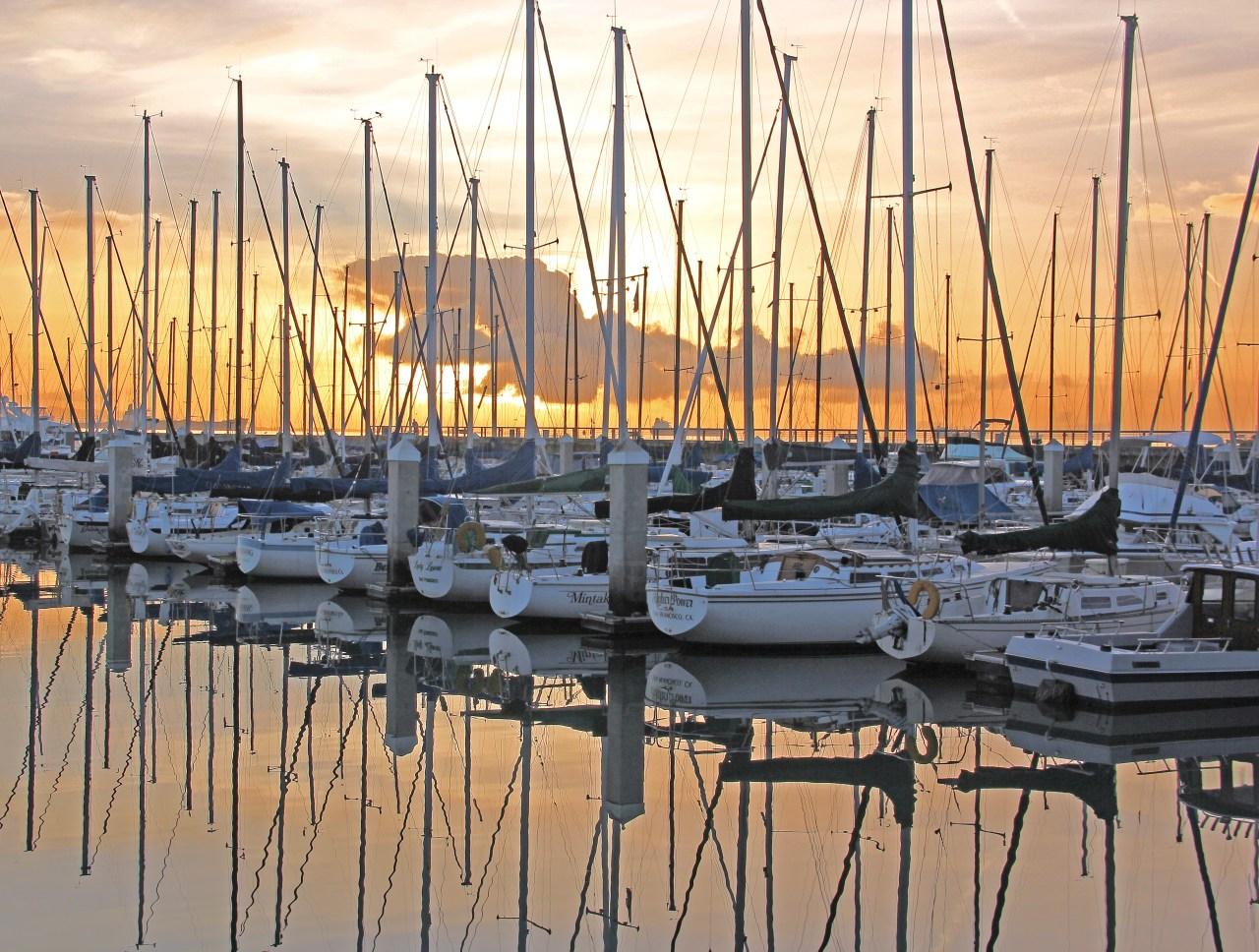 Southbeach sailboats sunrise