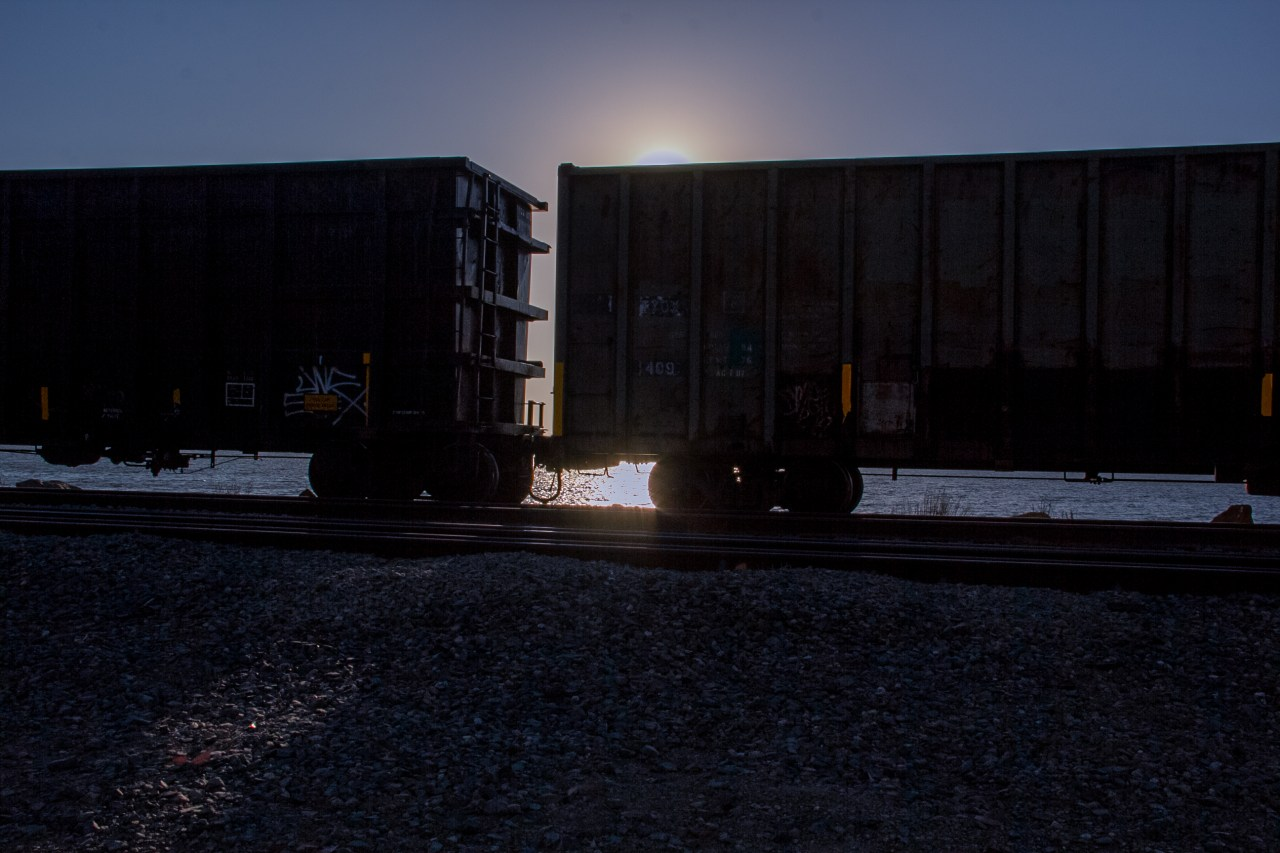Boxcars sunset