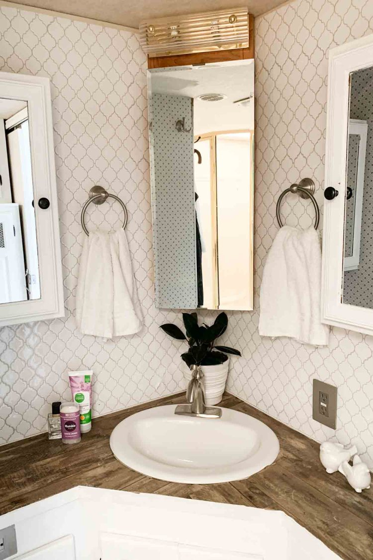 The after picture of the remodeled bathroom.