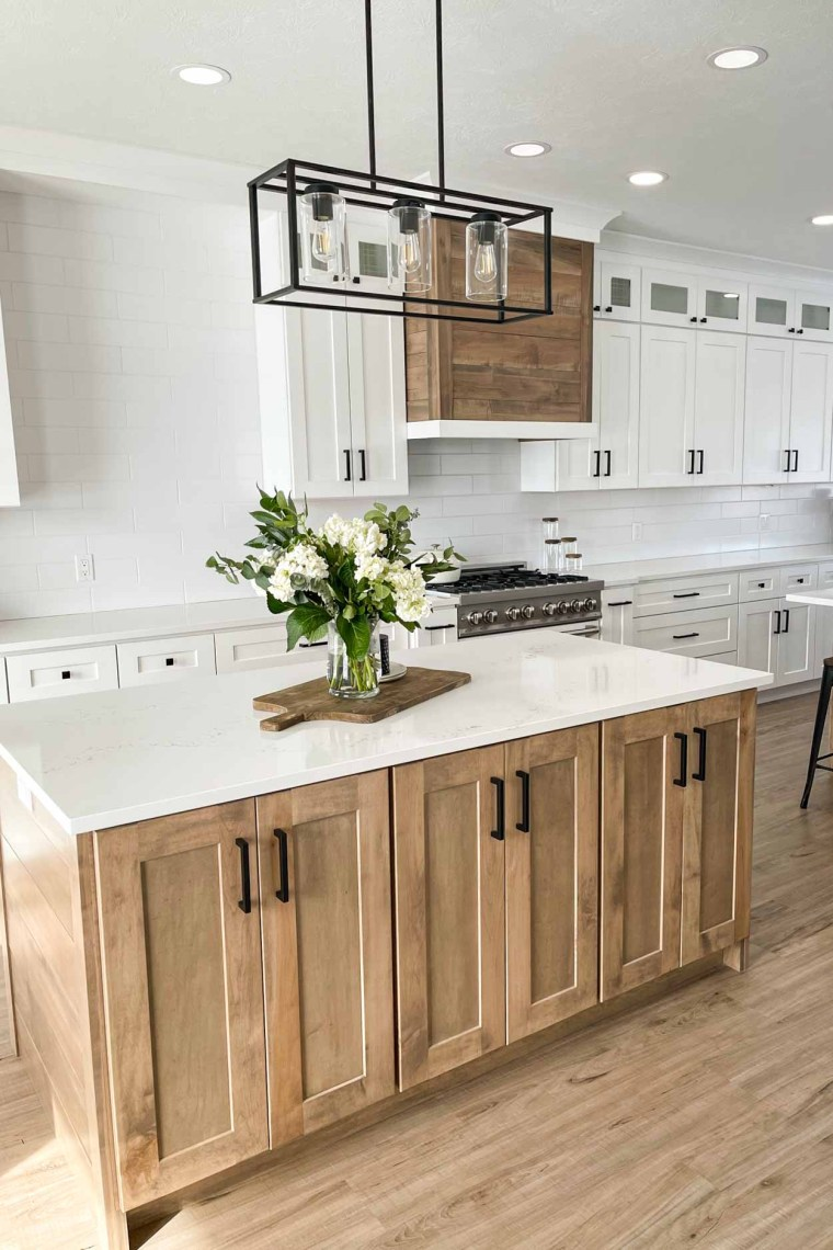 Check out our easy DIY kitchen remodel.  A detailed post all about the details on our new farmhouse kitchen.