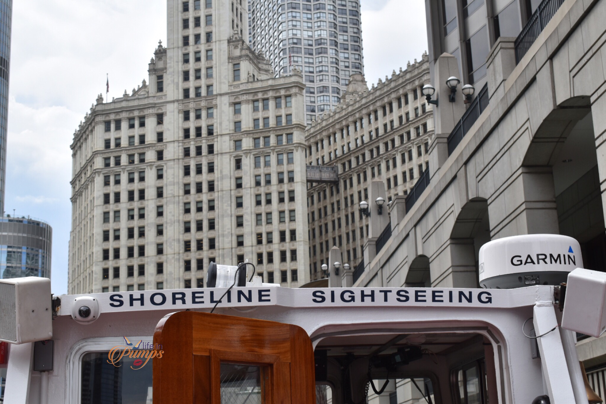 Shorelione sightseeing cruise sign- chicago, cruise, tour