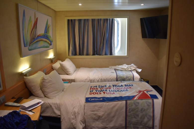 Carnival Cruise line ship room.