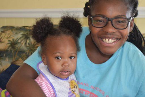 brown skin girls laughing at Myrtle Beach South Carolina at Thanksgiving