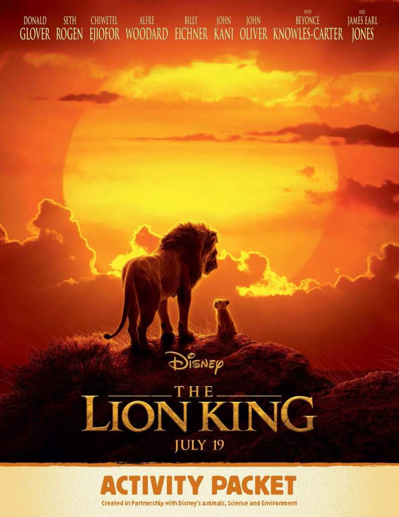 Grab the Lion King Family Activity Kit #ProtectthePride #LionKing