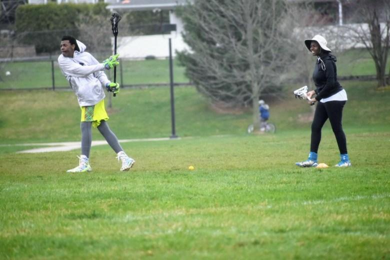 African American Kids playing Lacrosse