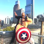 Men of Omega enjoy the Marvel exhibit at the Franklin Institute