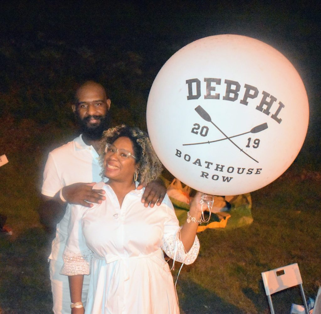 Black couple at Diner en Blanc Philly