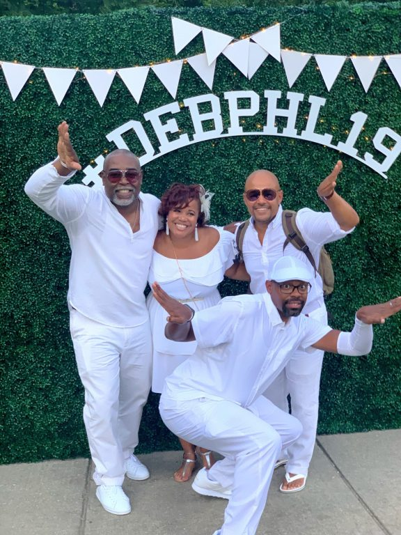 Diner en Blanc PHL 2019 Omegas and wife