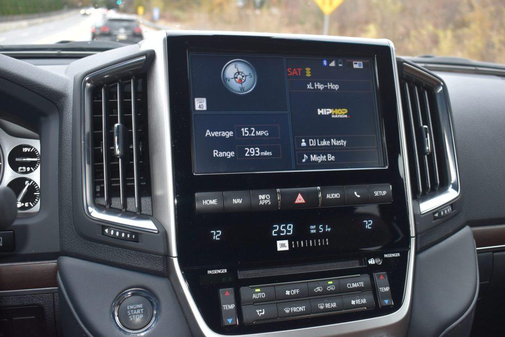 Toyota Land Cruiser Instrument Panel with split display