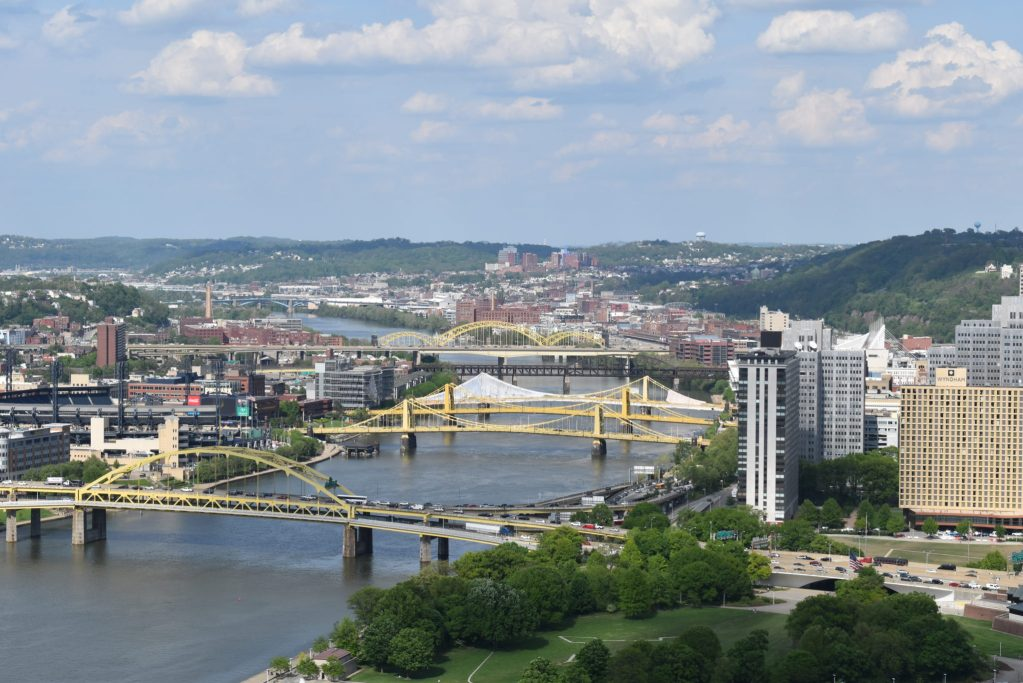 Pittsburgh City Skyline with bridges