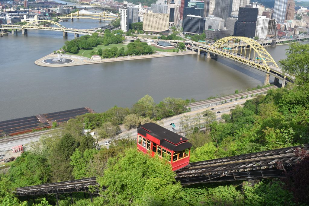 view from the Duquesne incline in Pittsburgh PA