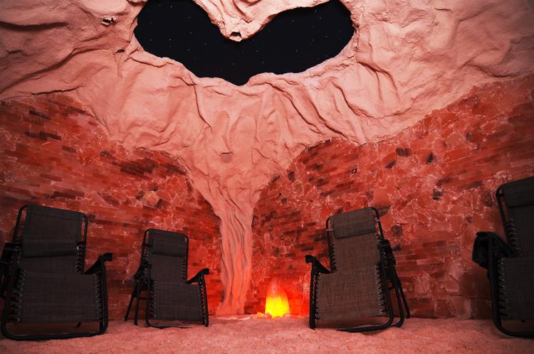 Himalayan salt cave at spa in Pittsburgh