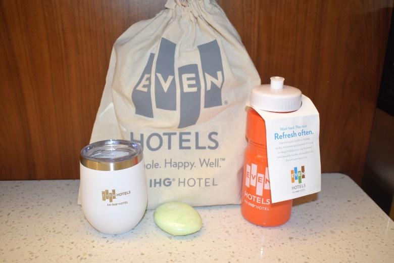 EvenHotels reusable water bottles sustainable travel