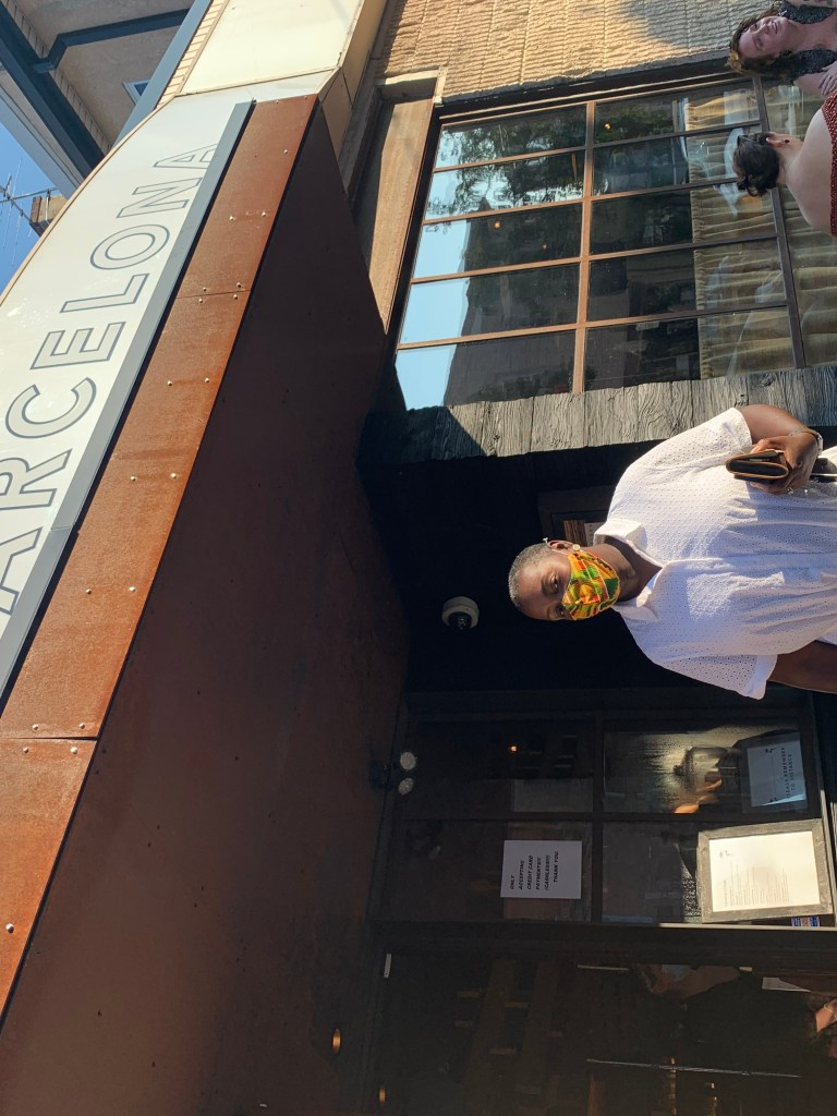 Barcelona wine bar menu east passyunk philly Take out bag with Tomika Philly lifestyle Expert