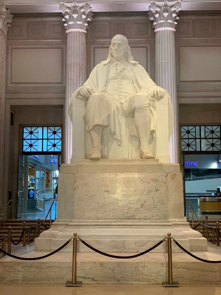 Things to do in Philadelphia. Ben Franklin Statue at the Franklin Institute