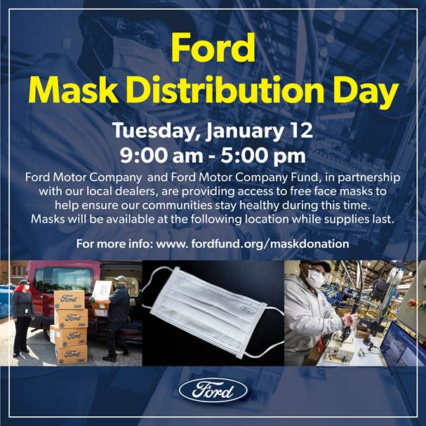 Ford Face Mask Distribution Day in the DMV 1