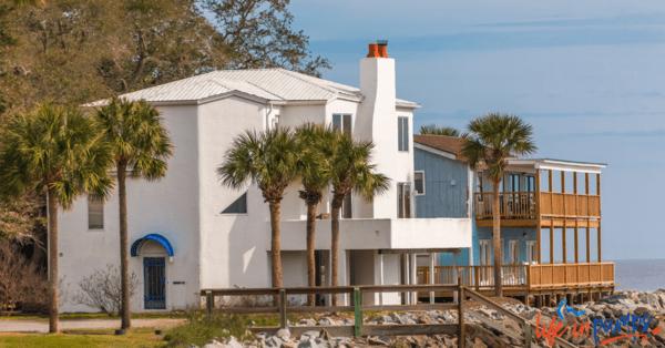A house on the beach.
