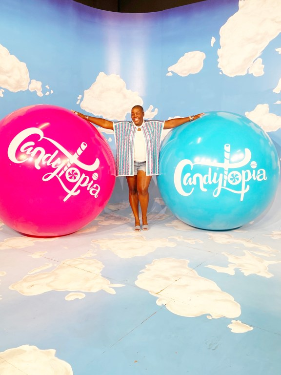 BrownGirl at Candytopia Philly Family fun guide
