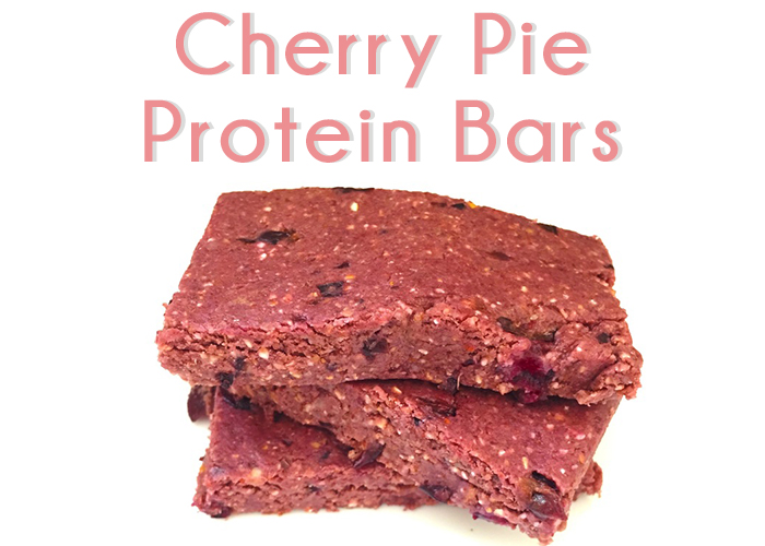 Healthy Cherry Pie Protein Bars