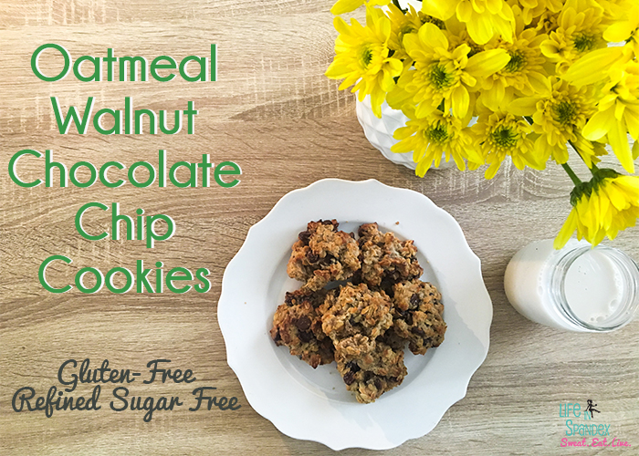 Gluten-Free Oatmeal Walnut Chocolate Chip Cookies