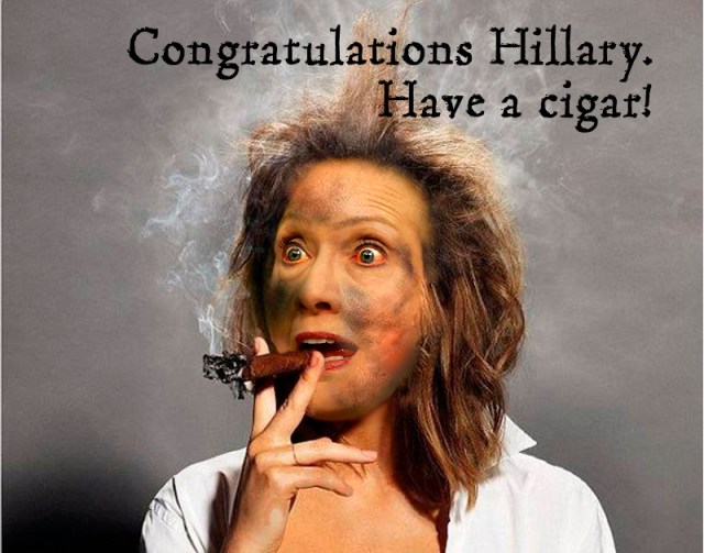 cigar hillary