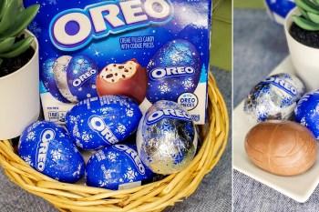 【超商甜點】不用再找代購台灣就有了 OREO出奇蛋? 聖誕節好應景~~超萌OREO夾心巧克力蛋