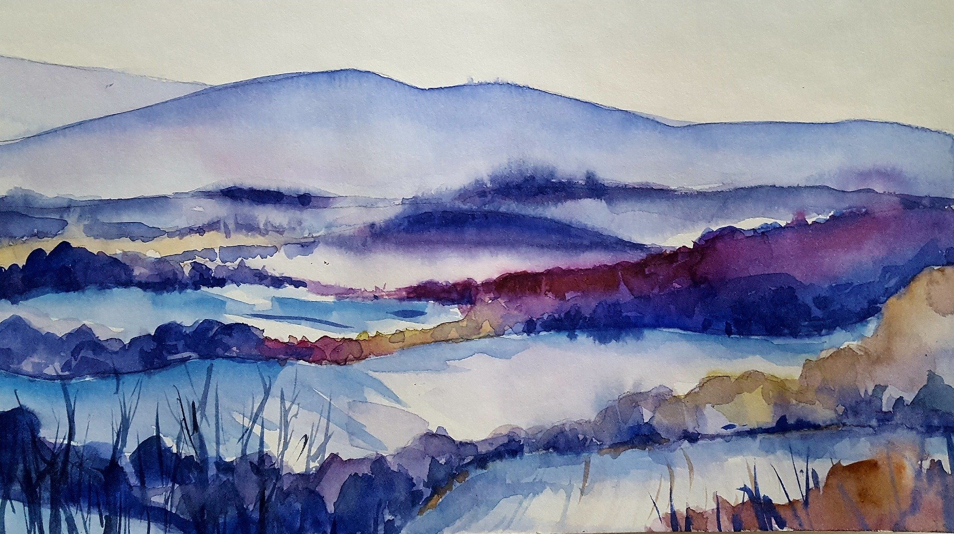 Winter Landscapes - Watercolour & Gouache