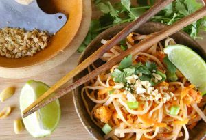 Pad Thai with peanuts
