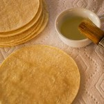 warming corn tortillas