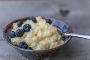 Old-fashioned tapioca pudding made in a slow cooker.