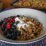 bowl of granola with yogurt