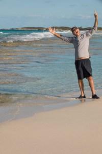 Dean with Stromatolites