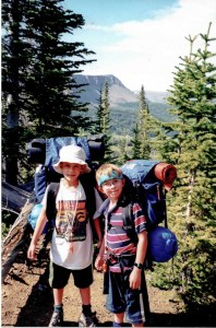Jack and Ben Massey backpacking