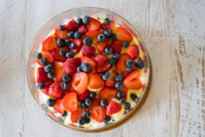 Strawberry-Blueberry Trifle