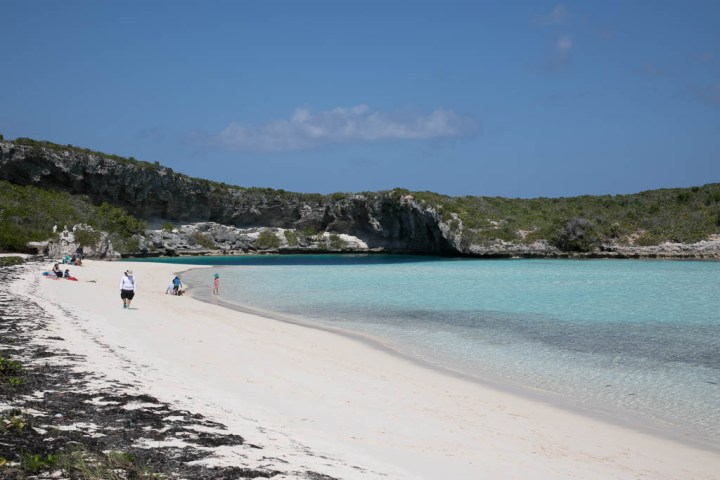 Beach near Dean's Blue Hole