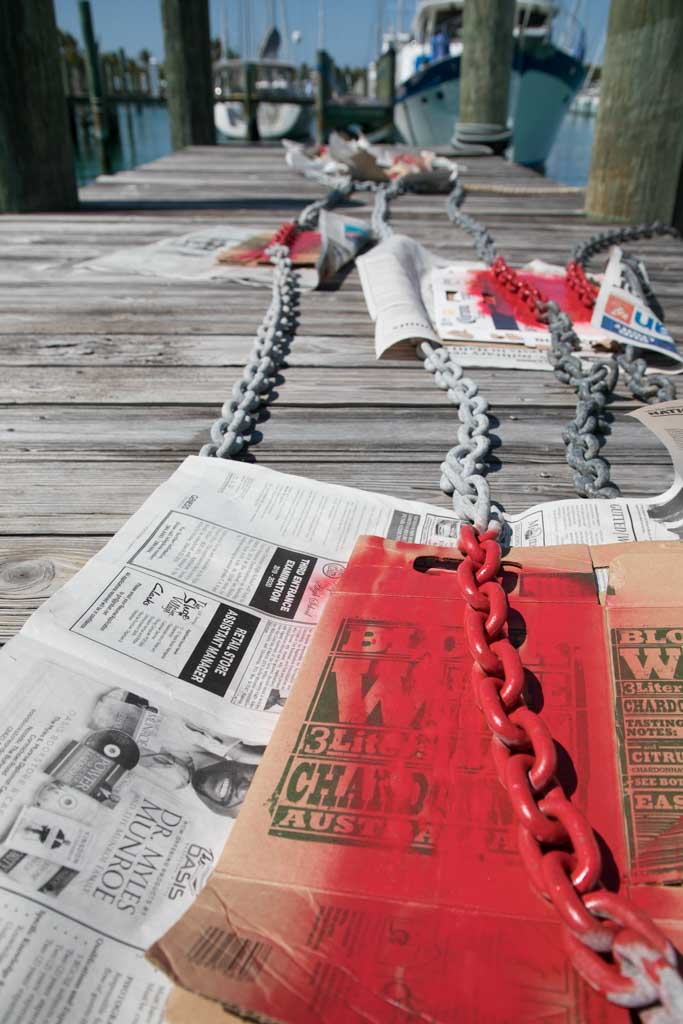 painting anchor chain