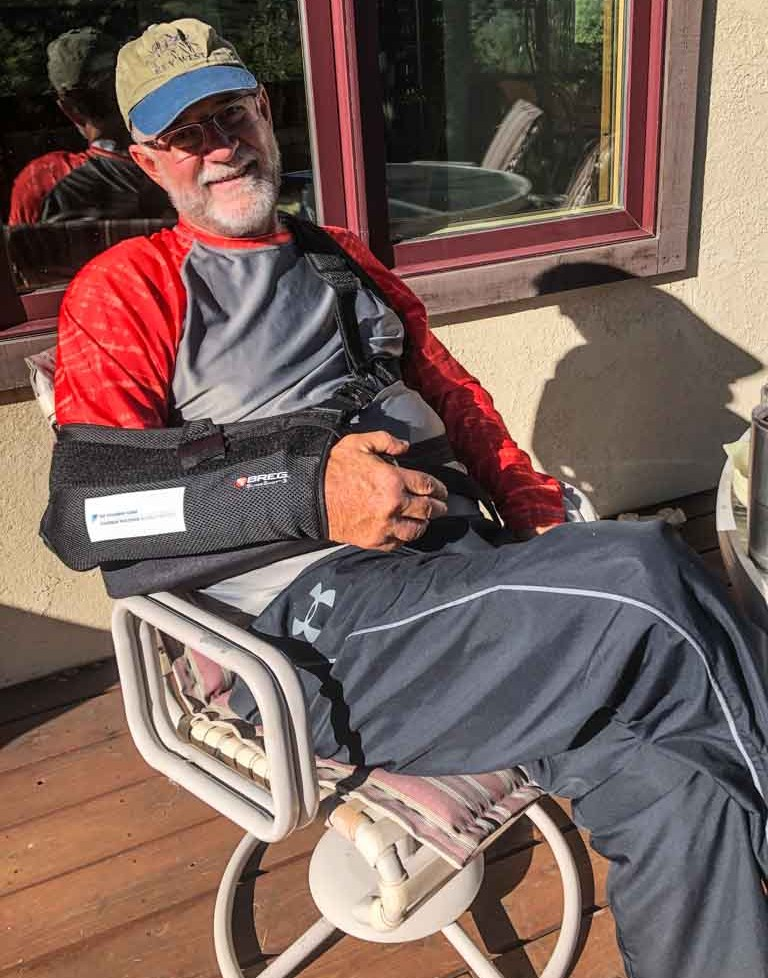 Dean recovers from shoulder surgery